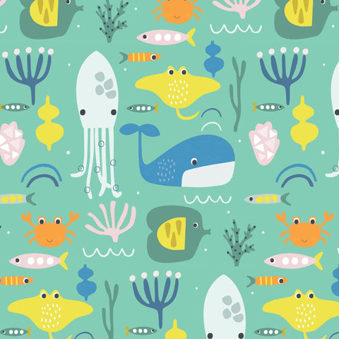 Dashwood Habitat - Underwater - 100% Cotton Fabric