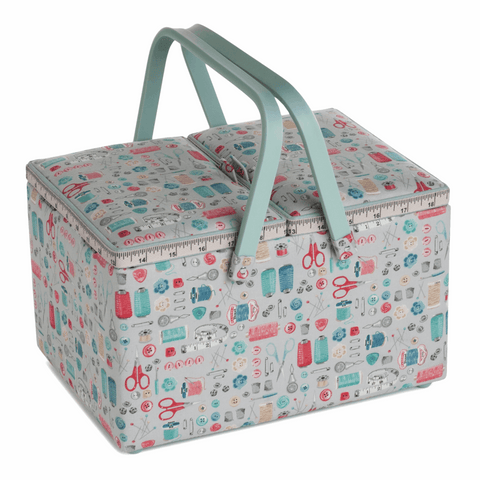Stitch in Time Twin Lid Sewing Box