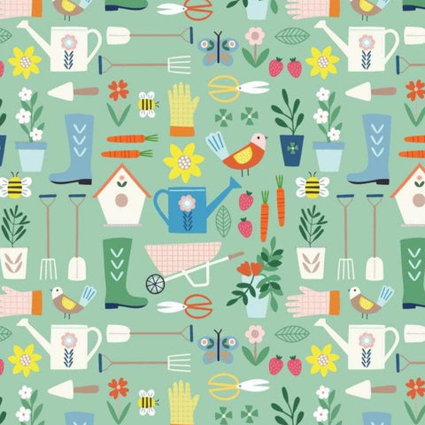 Dashwood Hobbies - Gardening - 100% Cotton Fabric