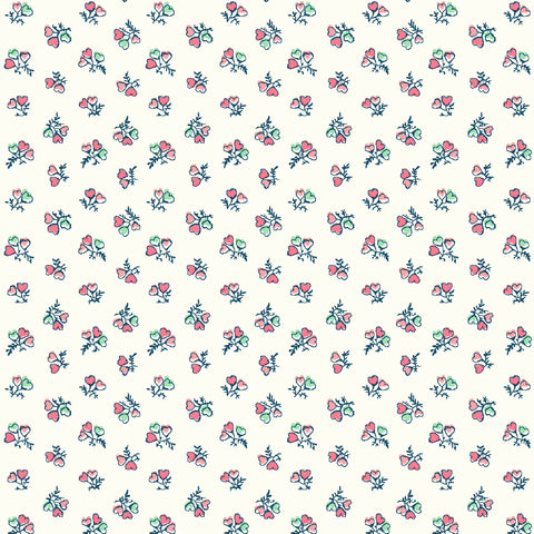 Liberty Tea for Two - Heart Bouquet - Lasenby 100% Cotton Fabric