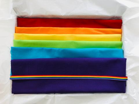 One-Off Fabric Box - Rainbow