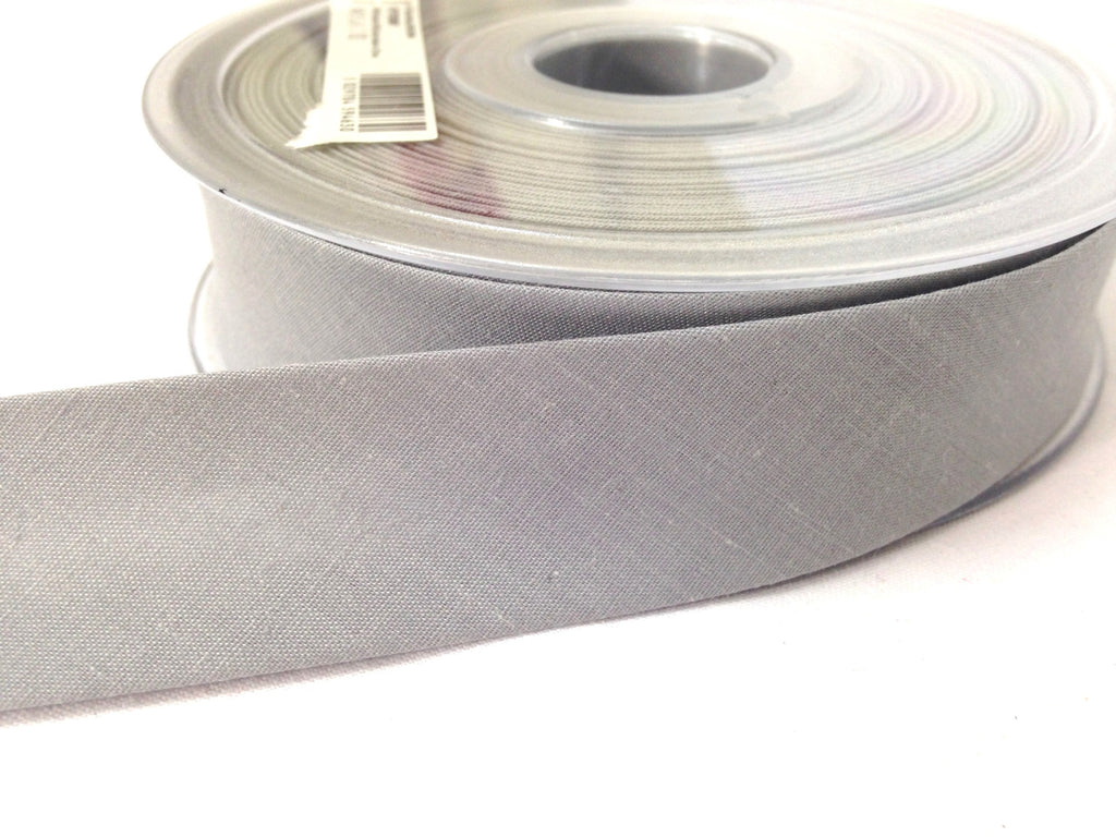 Grey Bias Binding - Single Fold Bias Binding | Sewing Bias Binding