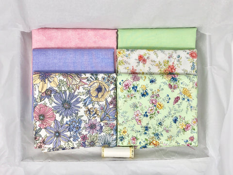 One-Off Fabric Box - Pastel Florals