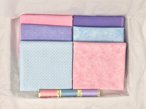 One-Off Fabric Box - Pastel Basics