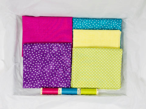 One-Off Fabric Box - Bright Basics