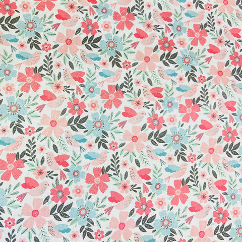 Pink Passion Flower 100% Cotton Fabric