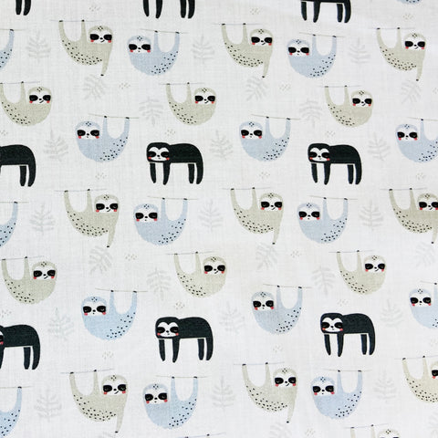 Sloths 100% Cotton Fabric