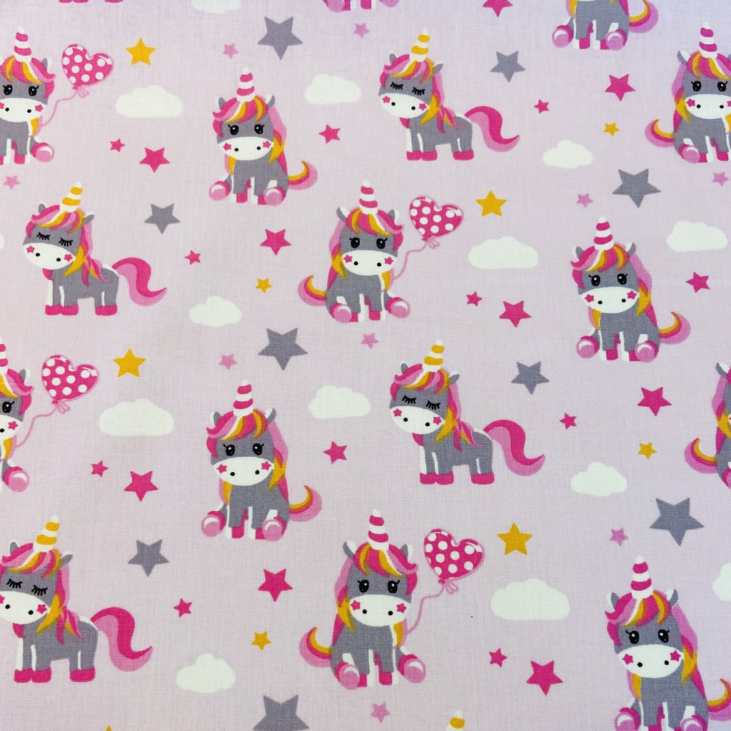 Unicorn Party Printed Cotton Jersey Fabric