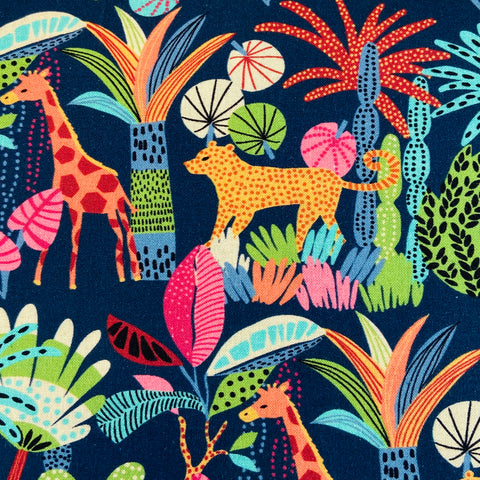 Indigo Fabrics - Jungle - 100% Cotton Fabric
