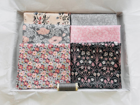 One-Off Fabric Box - Liberty Grey/Pink