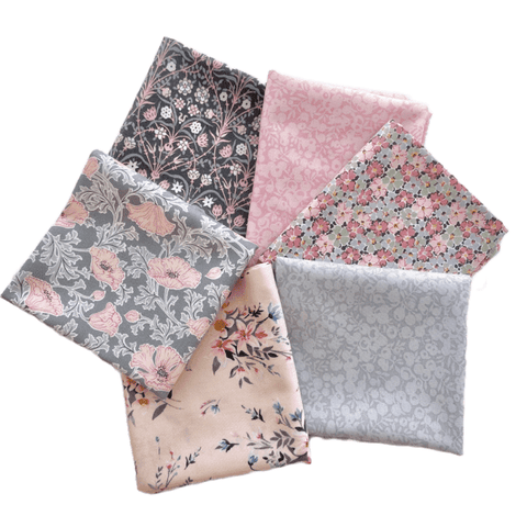 Liberty Pink & Grey Fat Quarter Bundle