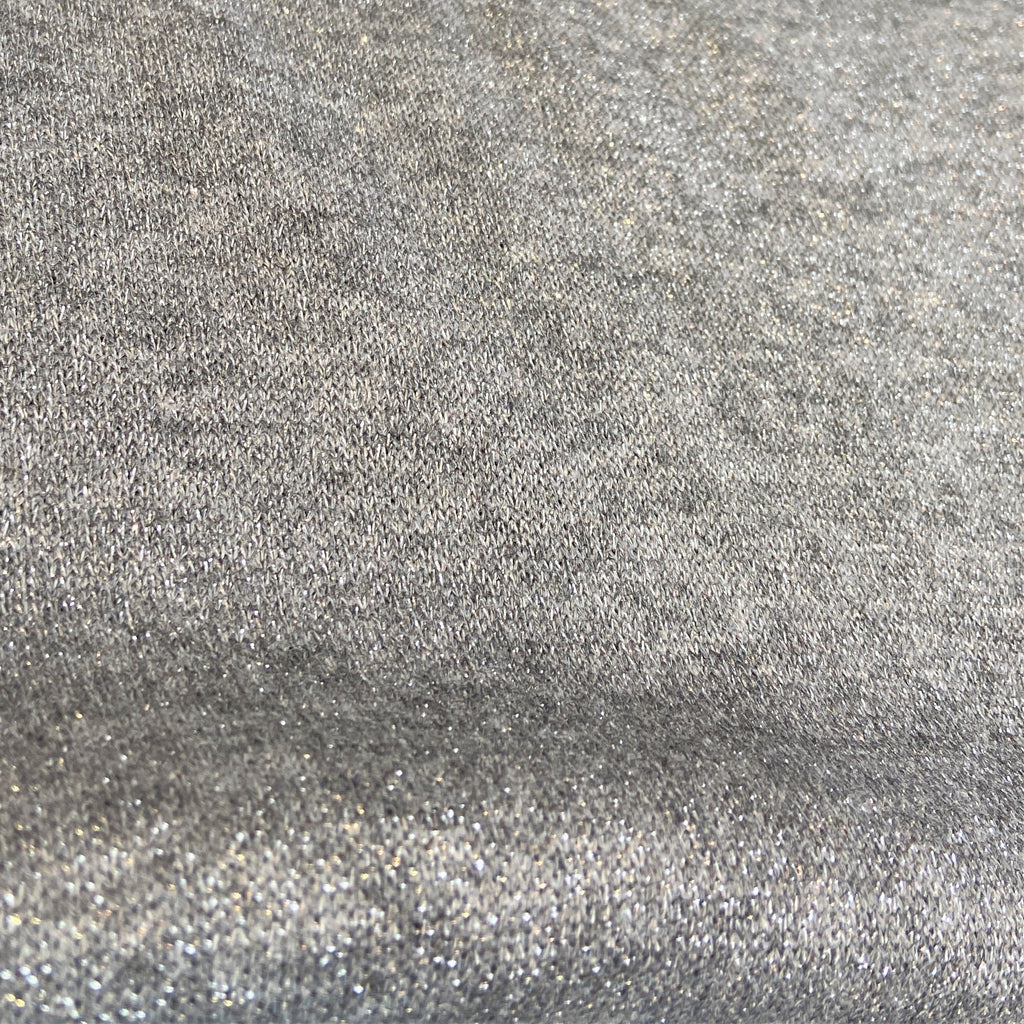 Grey Sparkle Sweater Knit Fabric