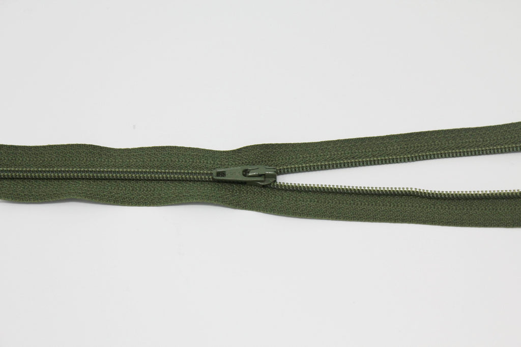 "51cm/20"" Dress Zip -  Khaki 566"