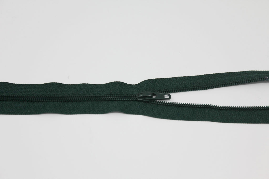 "46cm/18"" Dress Zip -  Forest Green 890"