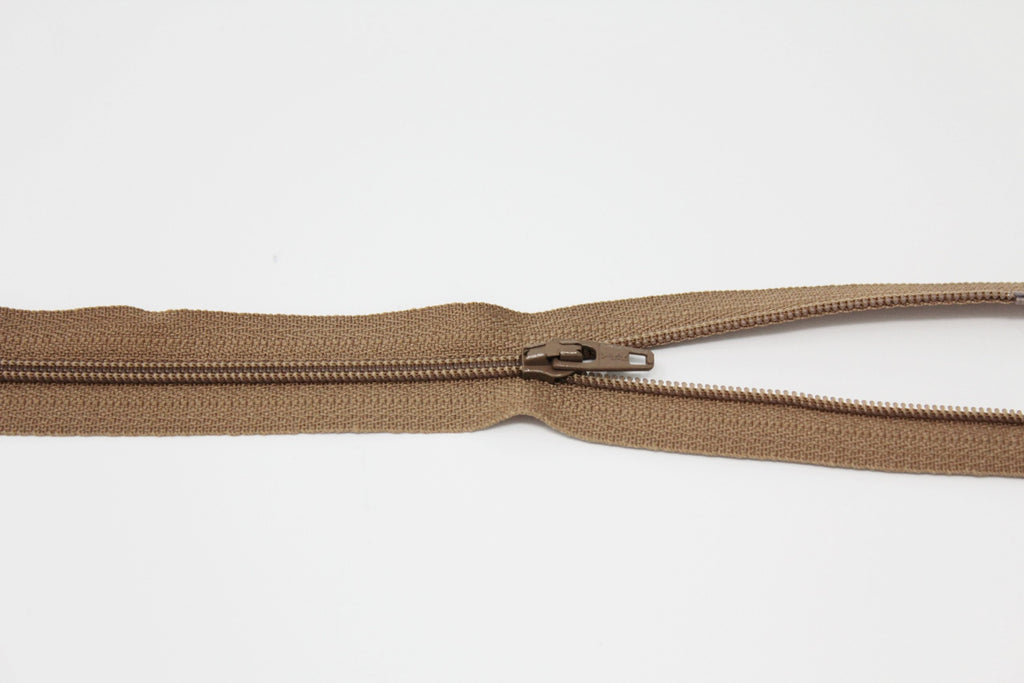 "20cm/8"" Dress Zip - Light Brown 854"