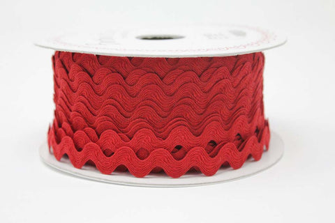 13mm Large Ric Rac - Red