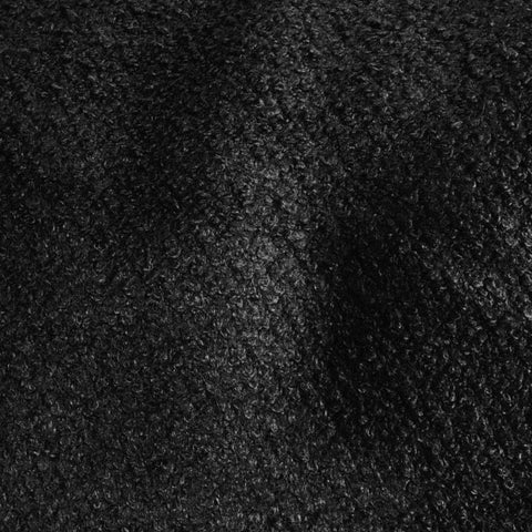 Black Wool Boucle Fabric