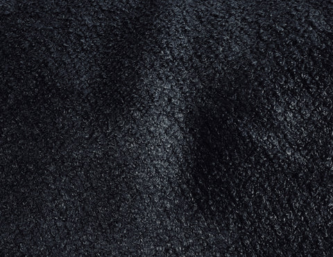 Midnight Blue Wool Boucle Fabric