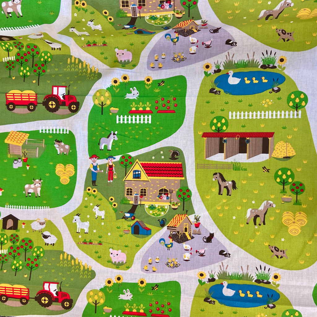 Farmyard Life 100% Cotton Fabric