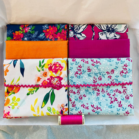 One-Off Fabric Box - Garden Party