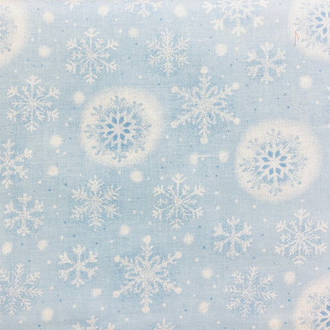 Kingfisher Fabrics Tis the Season - Snowflakes Blue - 100% Cotton Fabric