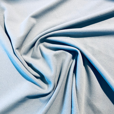 Powder Blue Plain Scuba Crepe Fabric