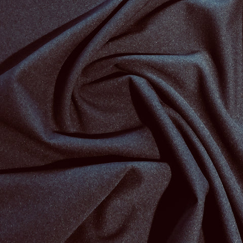 Navy Plain Scuba Crepe Fabric