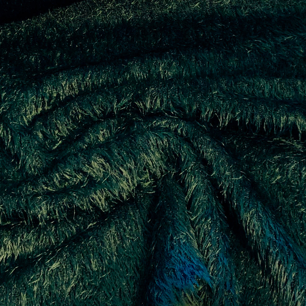 Dark Green Woolly Mammoth Knit Fabric