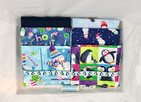 One-Off Deluxe Fabric Box - Christmas Characters