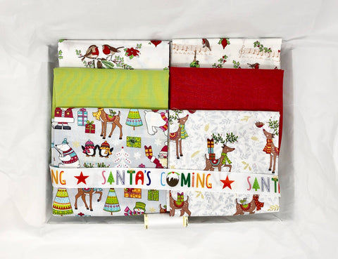 One-Off Luxury Fabric Box - Christmas Animals