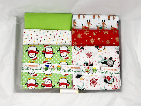 One-Off Fabric Box - Christmas Party