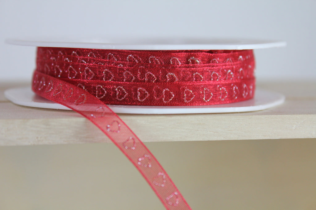 Glitter Ribbon, Sheer Ribbon & Red Ribbon - Online Haberdashery UK