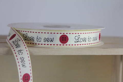 I love Sewing - Sewing Ribbon by Berties Bows | Online Haberdashery