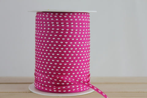 Slim Pink Centre Stitch Ribbon