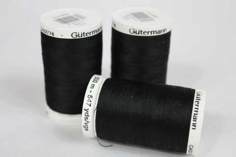 Gutermann - Strong Sewing Thread | Black Gutermann Sewing Thread