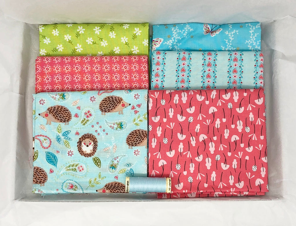 One-Off Fabric Box - Hedgehugs