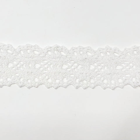 40mm Scalloped Edge White Eyelash Lace Ribbon