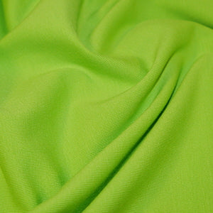 Lime Plain Cotton Jersey Fabric