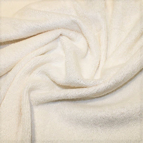 Ivory Bamboo Towelling Fabric