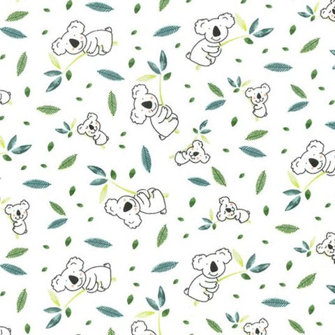 Baby Koala Cotton Jersey Fabric