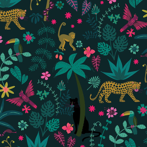 Dashwood Night Jungle - Jungle - 100% Cotton Fabric
