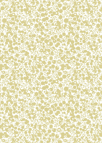 Liberty A Festive Collection - Wiltshire Shadow Gold (metallic) - Lasenby Quilting 100% Cotton Fabric