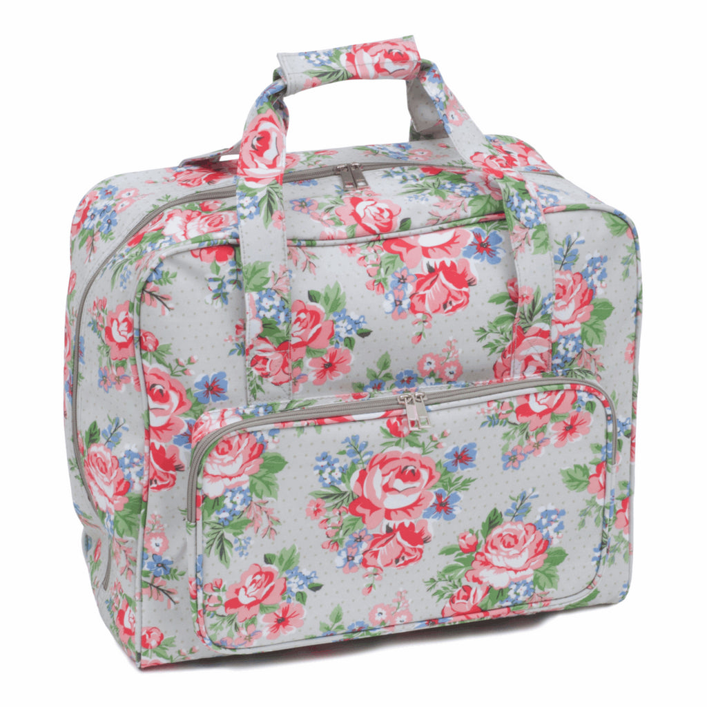 Grey Rose Sewing Machine Bag