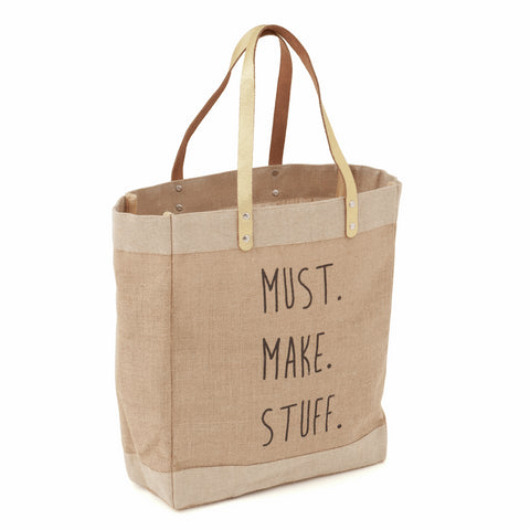 Must Make Stuff Hessian Craft Tote