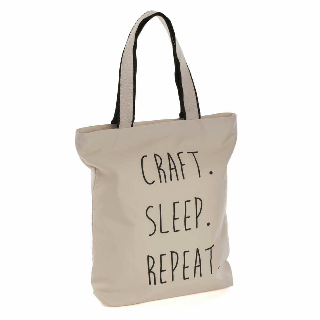 Craft Sleep Repeat Tote Bag