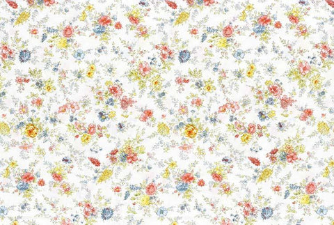 Lecien Memoire a Paris - Small Floral White - 100% Cotton Fabric