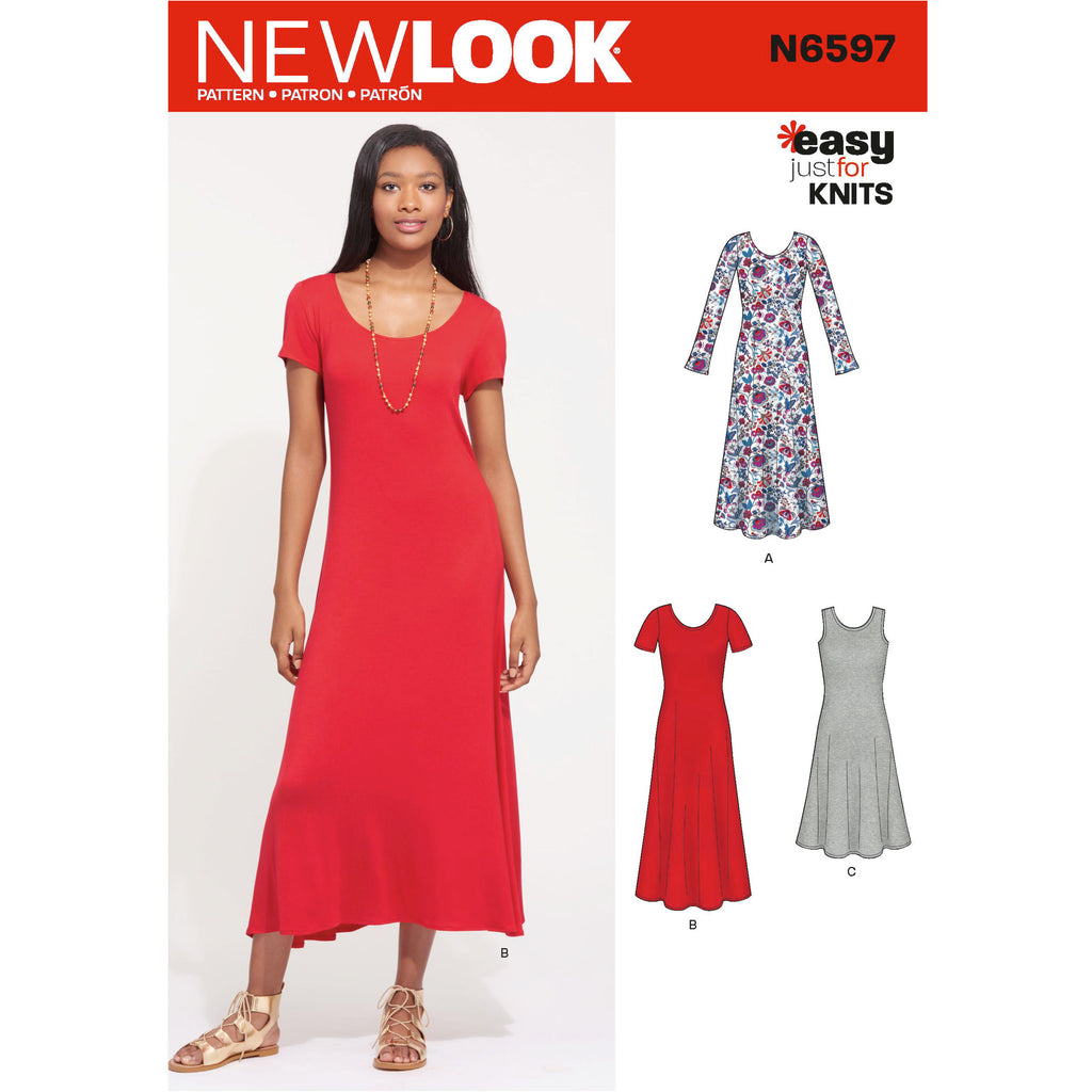 New Look Sewing Pattern N6597 - Misses' Knit Dress