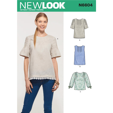 New Look Sewing Pattern N6604 - Misses' Tops