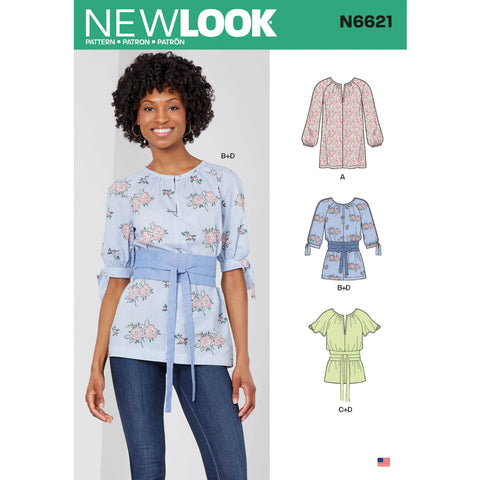 New Look Sewing Pattern N6621 - Misses' Top or Tunic