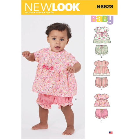 New Look Sewing Pattern N6628 - Babies' Dress and Pants